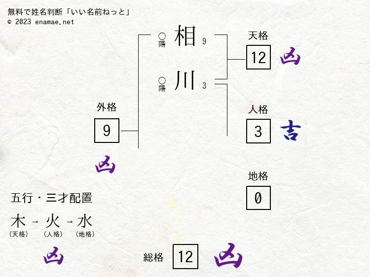 相川美結季(男性)の診断結果|...